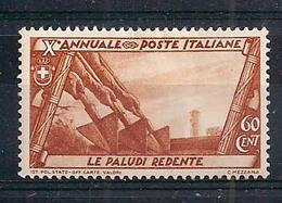 REGNO D'ITALIA 1932 DECENNALE DELLA MARCIA SU ROMA SASS.333  MLH VF - Ungebraucht