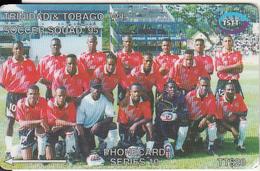 TRINIDAD & TOBAGO(GPT) - Soccer Squad 1995, CN : 71CTTB(Li, 0 With Barred), Tirage %77000, Used - Trinidad & Tobago