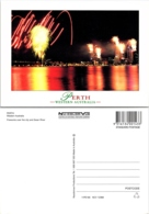 Perth Western Australia, Fireworks Over The City And Swan River - Perth