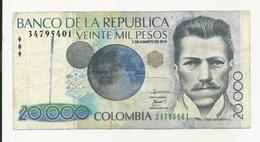 Colombia 20000 Pesos 2010 VF - Colombia