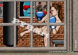PYB: La Voisine D'en Face #3 [ Nu Nude Femme Kick Boxing Sport CPM ] - Dessins