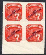 SLOVAKIA, 1939 ORANGE 7h O/P  BLOCK 4 - Slovakia