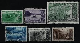 Russia / Sowjetunion 1949 - Mi-Nr. 1385-1390 Gest / Used - Waldstreifen - 1923-1991 UdSSR