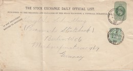 England: 1906: Brief Von London Nach Berlin - Guernesey