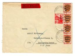 1947 Eilbote Büsingen Nach Karlsruhe - Zona Francesa