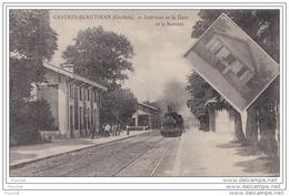 33) CASTRES - BEAUTIRAN (Gironde)  Intérieur De La Gare Et Buvette -  (animée - Train - Locomotive) - France