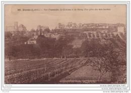 47) Duras.- (Lot Et Garonne) Vue D´ensemble Du Château Et Du Bourg (Vue Prise Des Voix Ferrées) - France