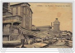 91) CORBEIL  - LES MOULINS  - CHARGEMENT DES BATEAUX - (ANIMÉE) - Corbeil Essonnes