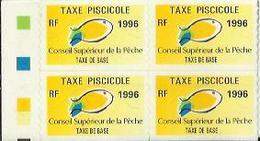 Taxes Pisicoles BASE - Année 1996 - Bloc De 4 Timbres - Pêche