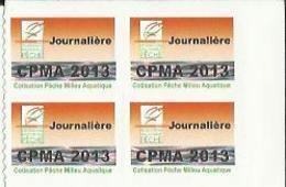 Taxe Piscicole ( CPMA ) Journalière 2013 - Bloc De 4 Timbres Vierges - Pêche