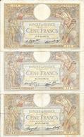 Vrac - Lot De 5 Billets Anciens France - 3 De 100 Francs, 1 De 10 Francs, 1 De 5 Francs - Coins & Banknotes