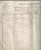 DOCUMENT DE 1855 CHEMIN DE FER  D ALAIS INDEMINITÉ DE COHORNE GUIAUME DEMEURANT A SAINT JEAN DU GARD - Chemin De Fer