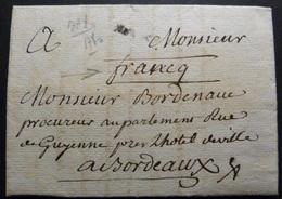Lettre De Dax Pour Bordeaux-1780 - 1701-1800: Precursori XVIII
