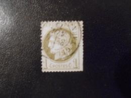 FRANCE YT50 CERES 1c. Vert-olive Cachet à Date - 1871-1875 Ceres