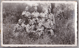 CHALON SUR SAONE  PHOTO   11 X 7    MILITAIRES DU 134 EME REGIMENT D'INFANTERIE  1936 EN MANOEUVRE - Guerre, Militaire
