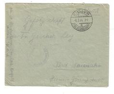 2. Wk Feldpost Res. Lazarett Krefeld Teillazarett Willich Bz Düsseldorf 6.3.44 - Briefe U. Dokumente
