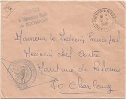 LETTRE OFFICIEL 17 ROCHEFORT AERO MARINE 8.8.1968 CHARENTE MARITIME - Marcophilie (Lettres)