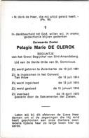 Begijn, Zuster, Pelagie De Clerck, Sint-Amandsberg, Zuienkerke - Religione & Esoterismo