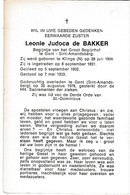 Begijn, Zuster, Leonie De Bakker,  Sint-Amandsberg, Klinge - Religion & Esotérisme