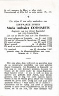 Begijn, Zuster,Maria Coenjaerts, Assenede, Sint-Amandsberg, - Religion &  Esoterik