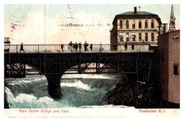 Rhode Island Pawtucket , Main Street Bridge And Falls - Pawtucket