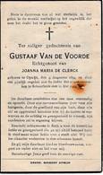 Opwijk, Schaarbeek, 1944, Gustaaf Van De Voorde - Images Religieuses