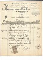 Haute Garonne 31 Toulouse Place Belfort L RECOURCHINES FILS AINE Toitures Plomberie Zinguerie 1917 - 1900 – 1949