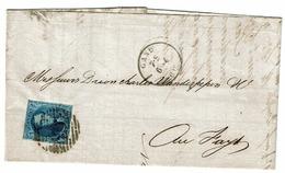 11A  Lettre Obl Gand Vers Le Fayt  V3  Retouche Haut (cadre Prolongé) - 1858-1862 Medallions (9/12)