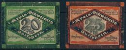 NOTGELD / SCHWEINITZ -   1921 ,  2 Notgelscheine  -  Gebraucht - Lokale Ausgaben