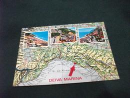 CARTA GEOGRAFICA DEIVA MARINA LIGURIA - Carte Geografiche