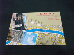CARTA GEOGRAFICA L.O.R.I. LABORATORI ODONTOTECNICI RIUNITI ITALIANI VIA TORTONA GENOVA  VEDUTE PUBBLICITARIA - Carte Geografiche