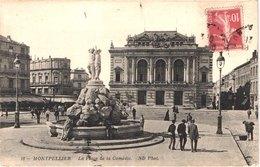 FR34 MONTPELLIER - Nd 18 - La Place De La Comédie - Animée - Belle - Montpellier
