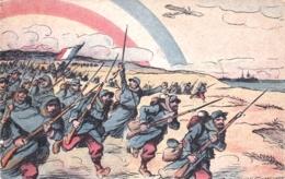Illustrateur - Soldats Francais Au Pas De Charge - Militaria - Guerre 1914 - Illustrateurs & Photographes
