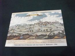 CARTA GEOGRAFICA CHIANCIANO TERRA SENESE  G. BALDASSARRI 1756 - Carte Geografiche