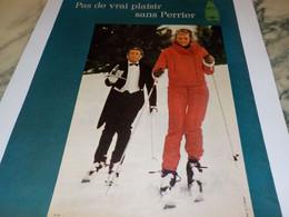 ANCIENNE PUBLICITE VRAI PLAISIR BOISSON PERRIER 1971 - Perrier