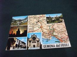 CARTA GEOGRAFICA GEMONA DEL FRIULI  VEDUTE UDINE - Carte Geografiche