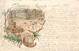 75 SOUVENIR DE PARIS  DE 1897 PLACE DU CARROUSELET LE LOUVRE  - PRIX DE DEPART 1 €00 - Places, Squares