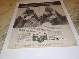 ANCIENNE PUBLICITE  APPAREIL PHOTO   PENTAX  1972 - Autres