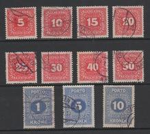 1916 Scott  #J49-J59 (11) Postage Due VFU Complete Used. - Segnatasse