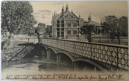 Nuova Zelanda 03 - Public Library And Hereford Street Bridge 1908 - New Zeland - Nuova Zelanda