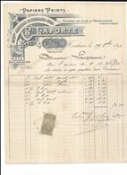 Haute Garonne 31 Toulouse PAPIERS PEINTS R LAPORTE  Rue Lapeyrouse Papiers De Luxe 1894 - 1800 – 1899