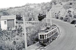 Tramway De Perpignan (66) Vers 1950 Motrice N°30 En Provenance De Canet - Tramways