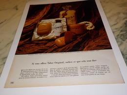 ANCIENNE PUBLICITE SAVON TABAC  1971 - Parfums & Beauté
