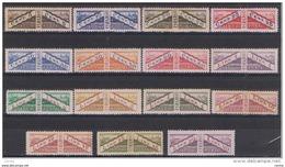 SAN  MARINO:  1928  PACCHI  POSTALI  -  S. CPL. 15  VAL. N. -  GOMMA  SCURA  SU ALCUNI  PEZZI  -  SASS. 1/15 - Colis Postaux