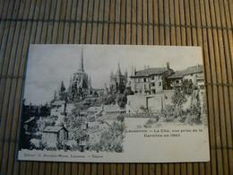 CP200/ SUISSE / LAUSANNE LA CITE VUE PRISE DE LA CAROLINE EN 1862 / CARTE NEUVE - Altri