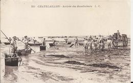 Carte Postale Ancienne De Chatelaillon L'arrivée Des Boucholeurs Pas - Châtelaillon-Plage