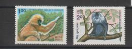 Inde 1983 Animaux Singes Série 775-76 2 Val ** MNH - Neufs