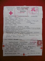 CACHET CROIX ROUGE 1943 A LAGOUGE 8 FRS PERCUS COMPLEMENT TIMBRE PETAIN - Marcofilie (Brieven)