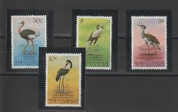 Tanzanie 1982 Oiseaux Série 195-98 4 Val ** MNH - Tanzanie (1964-...)