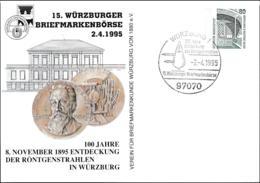 Germany Ganzsache Zeche Zollern II Dortmund W/print 15. Würzburger Briefmarkenbörse 1995 Used - Postales Privados - Usados
